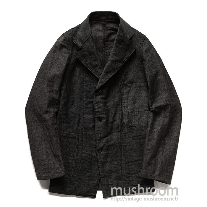OLD PIN-STRIPE COTTON WORK JACKET