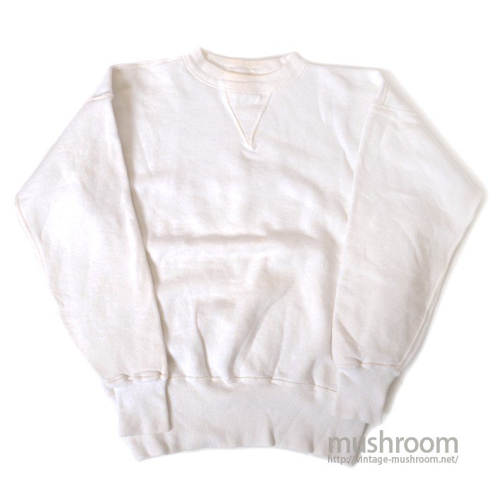 PENNEY'S SINGLE-V WHITE SWEAT SHIRT( MINT )