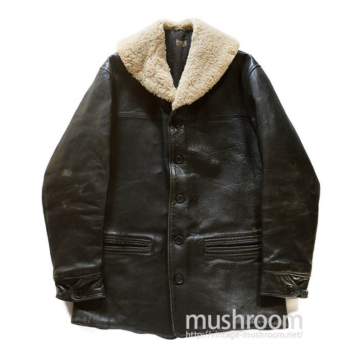 SINGLE BREASTED SHAWLCOLLER HORSEHIDE CAR COAT