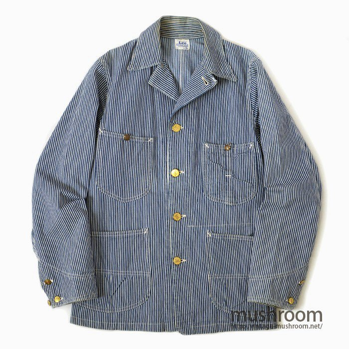 Lee HICKORY-STRIPE COVERALL( UNION MADE BY LEE BUTTON )