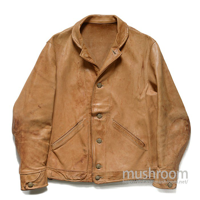 OLD CALFSKIN COSSACK LEATHER JACKET