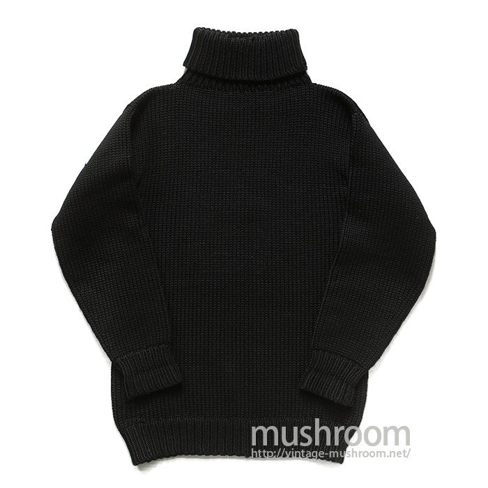 SPALDING BLACK TURTLE-NECK SWEATER