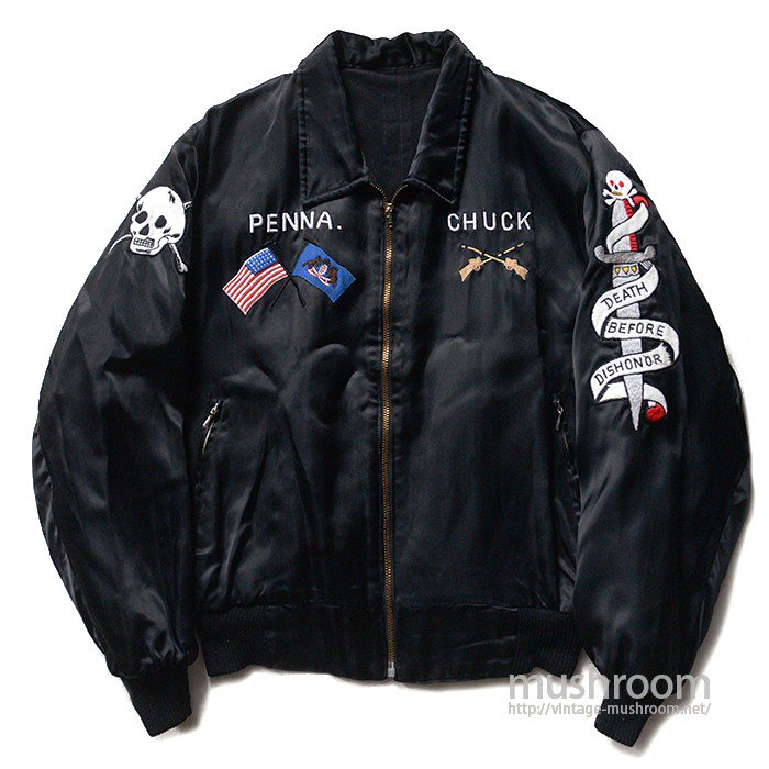 GERMANY REVERSIBLE TOUR JACKET WITH SKULL EMBROIDERY