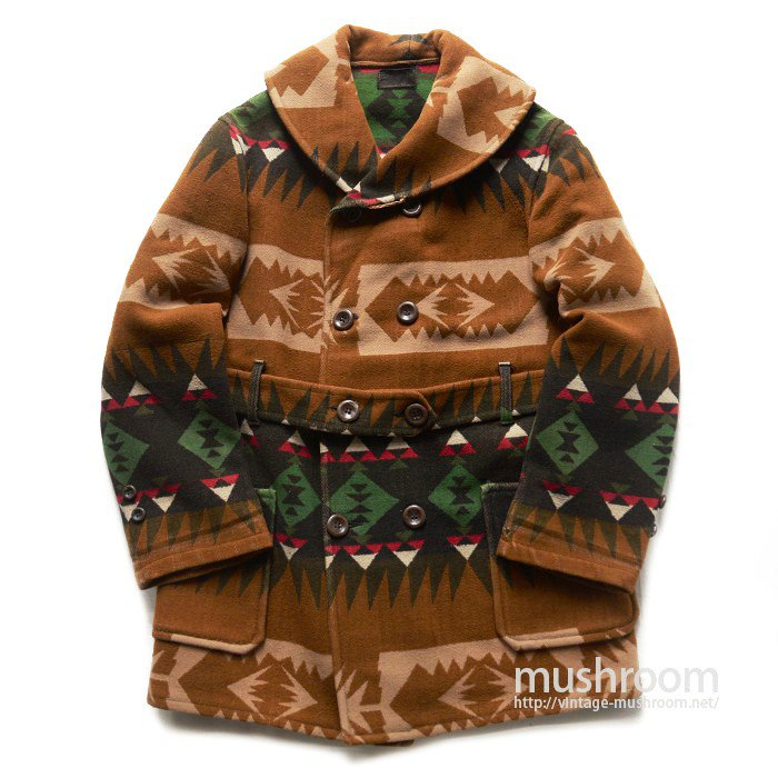 SUMMIT NATIVE PATTERN BLANKET MACKINAW COAT