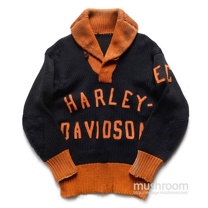 HARLEY-DAVIDSON TWO TONE SHAWLCOLLER SWEATER