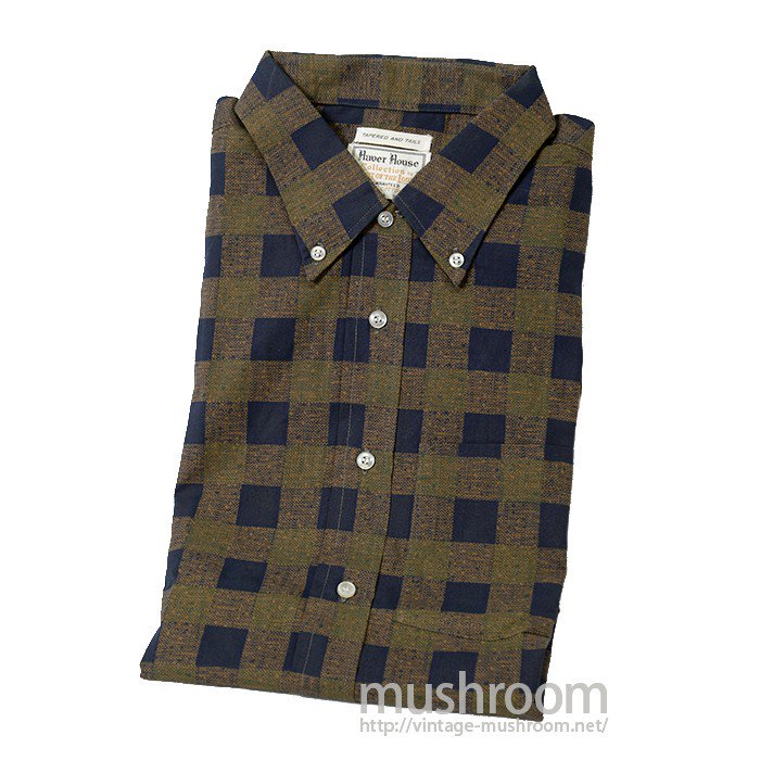 HAVER HOUSE PRAID PRINT COTTON BD L/S SHIRT( DEADSTOCK )