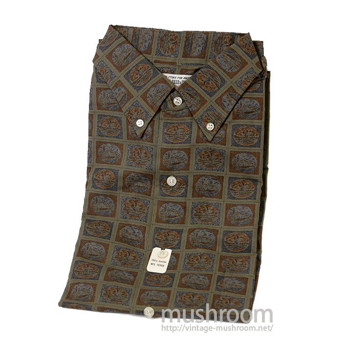 MARSHALL&COMPANY PRINT COTTON BD SHIRT( DEADSTOCK )