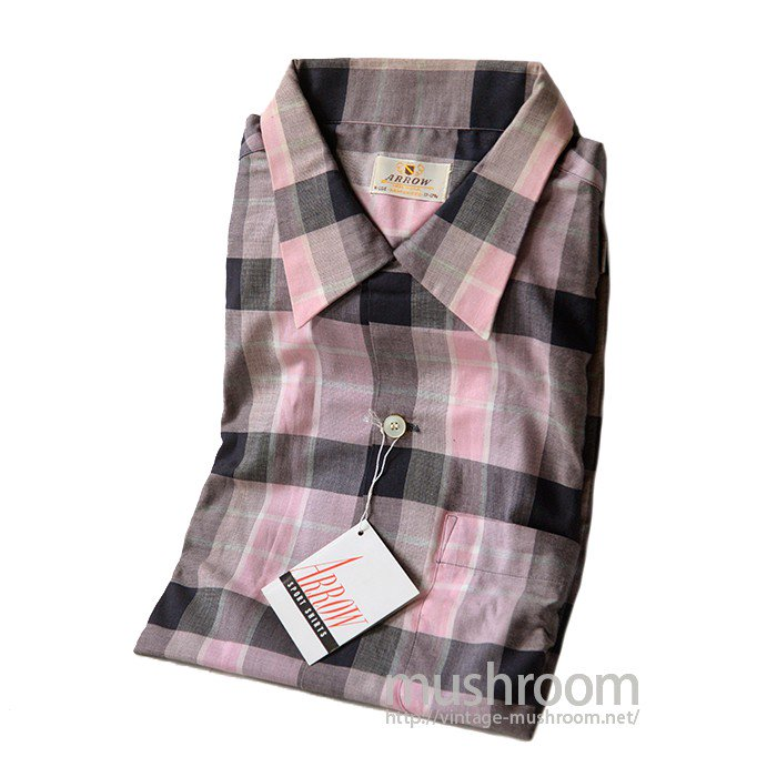 ARROW PLAID COTTON BOX SHIRT( DEADSTOCK )