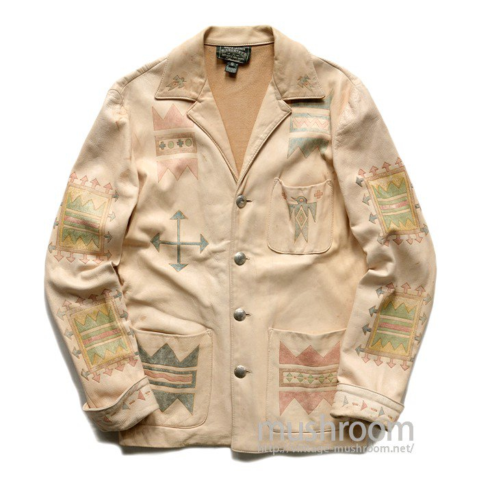 RALPH LAUREN  COUNTRY HAND-PAINT LEATHER JACKET