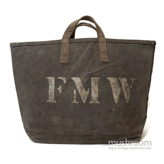 OLD COAL CANVAS BAG WITH STENCIL
