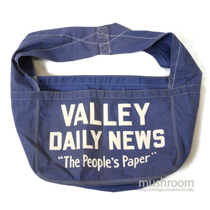 VALLEY DAILY NEWS CANVAS SHOULDER BAG( MINT )