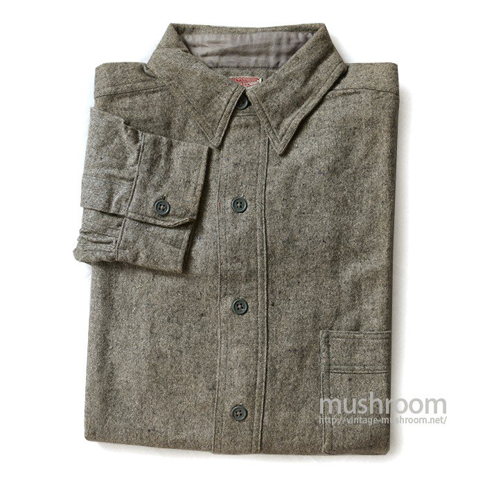OLD ONE-POCKET PULLOVER WOOL SHIRT WITH CHINSTRAP( 14 1/2/DEADSTOCK )