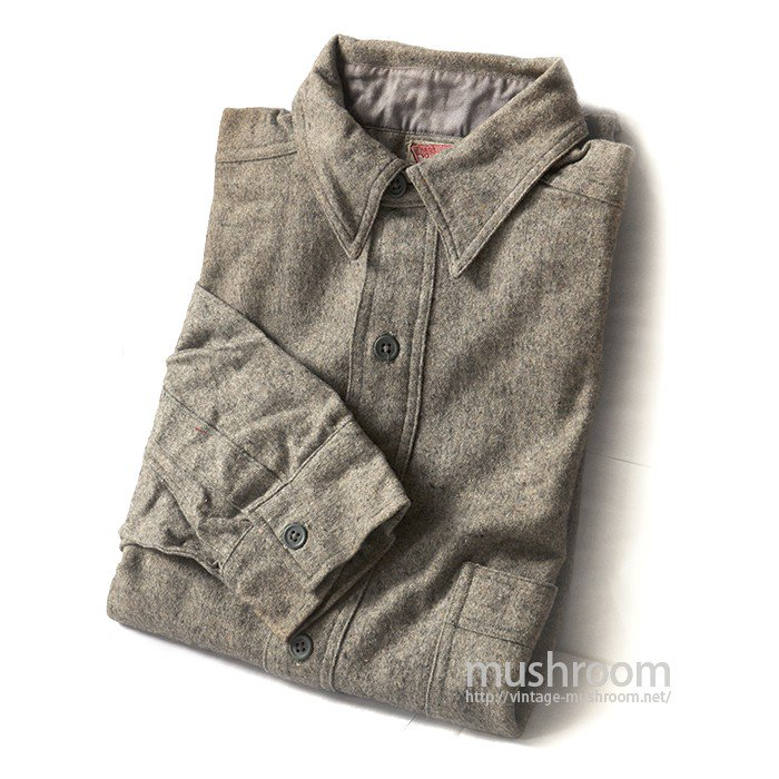 OLD ONE-POCKET PULLOVER WOOL SHIRT WITH CHINSTRAP( DEADSTOCK )