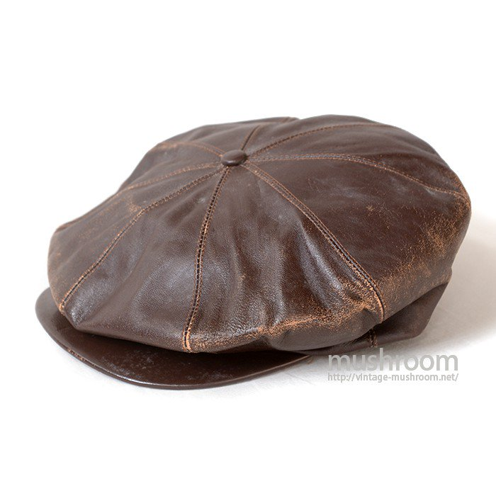 OLD LEATHER NEWSBOY CAP( MINT )