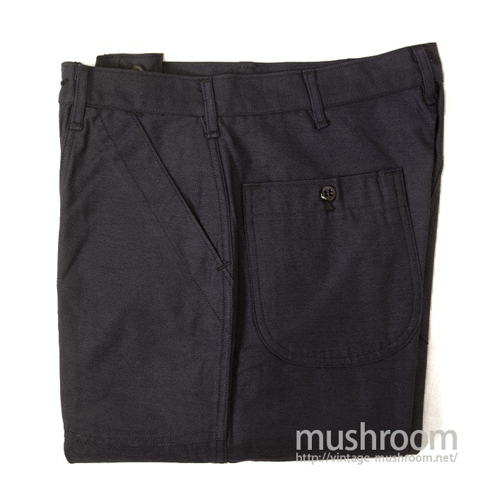 U.S.NAVY UTILITY DARK BLUE COTTON TROUSERS( 29R/DEADSTOCK )