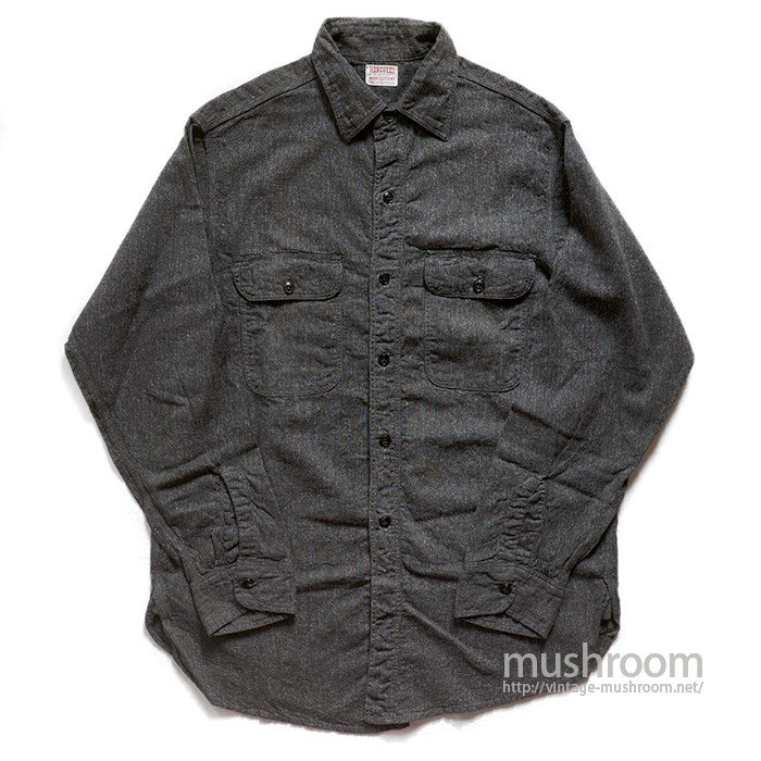 HERCULES BLACK CHAMBRAY WORK SHIRT( MINT )