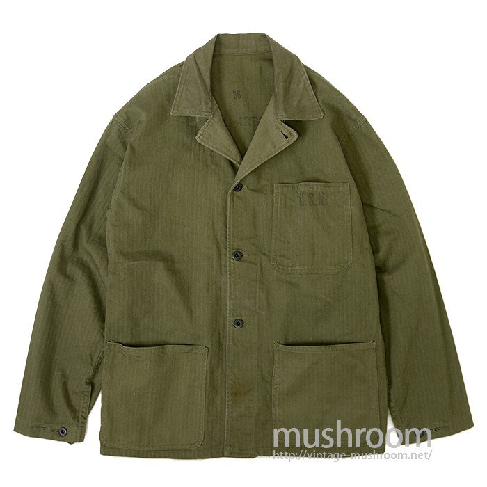 WW2 U.S.NAVY HBT UTILITY JACKET( MINT )