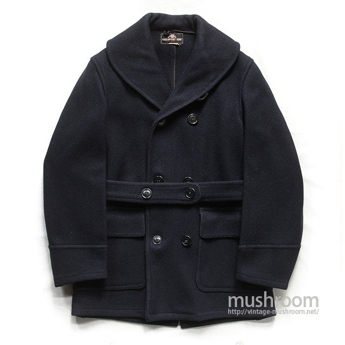 H.S.CO INC SHALCOLLER DOUBLE BREASTED WOOL COAT