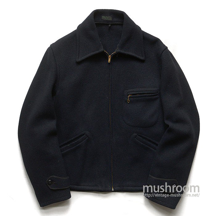 MONTGOMERY WARD BLACK WOOL SPORTS JACKET