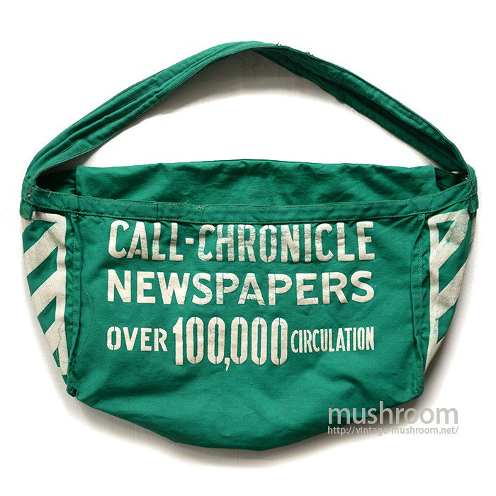 OLD CANVAS NEWSPAPER BAG