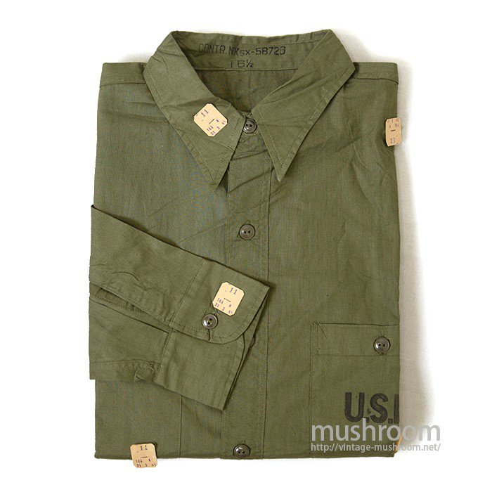 U.S.NAVY COTTON UTILITY SHIRT( DEADSTOCK )
