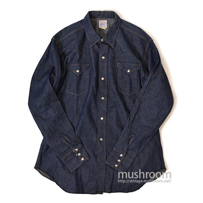LEVI'S SHORTHORN DENIM WESTERN SHIRT( DEADSTOCK )