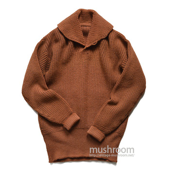 OLD SHAWLCOLLER SWEATER