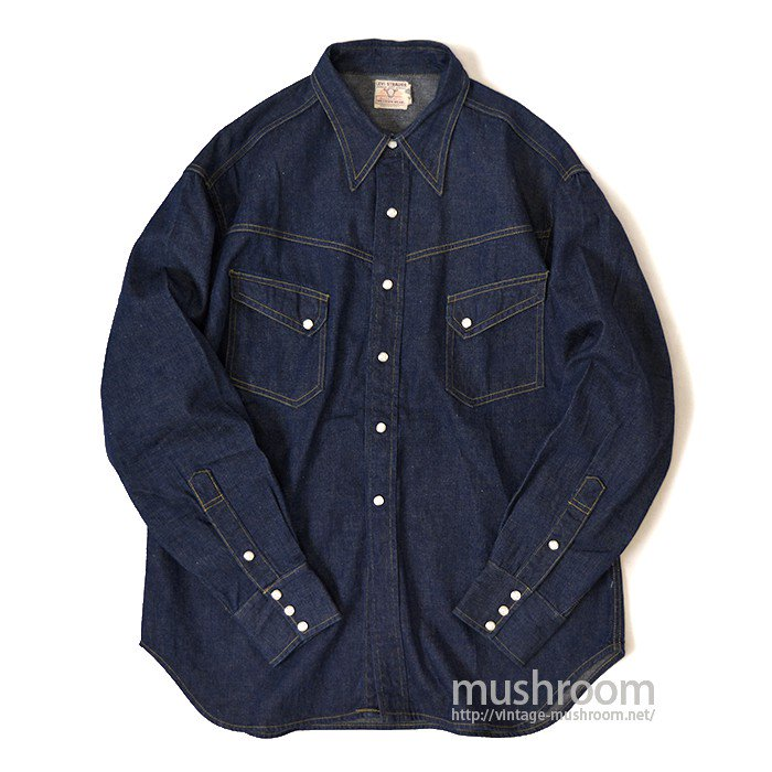 LEVI'S SHORTHORN DENIM WESTERN SHIRT( MINT )