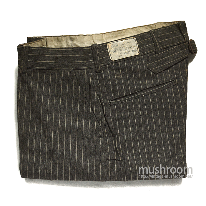 DUCK HEAD STRIPE WORK TROUSER WITH BUCKLEBACK( DEADSTOCK )