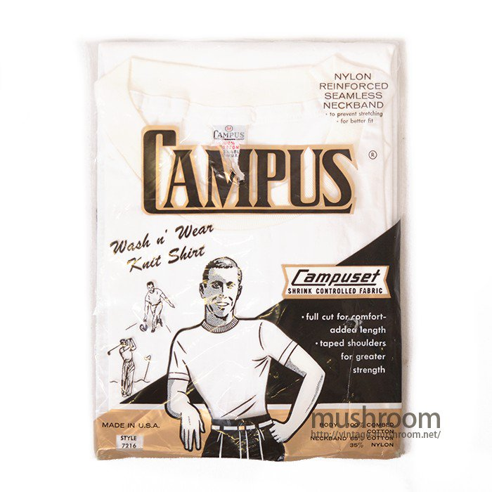 CAMPUS ALL COTTON PLAIN T-SHIRT( M/DEADSTOCK )