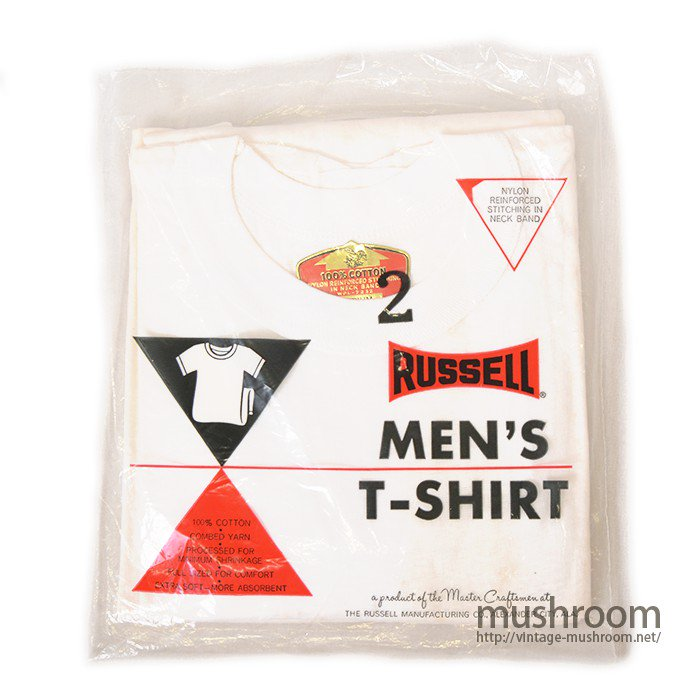 RUSSELL ALL COTTON PLAIN T-SHIRT( 2SET/M/DEADSTOCK )
