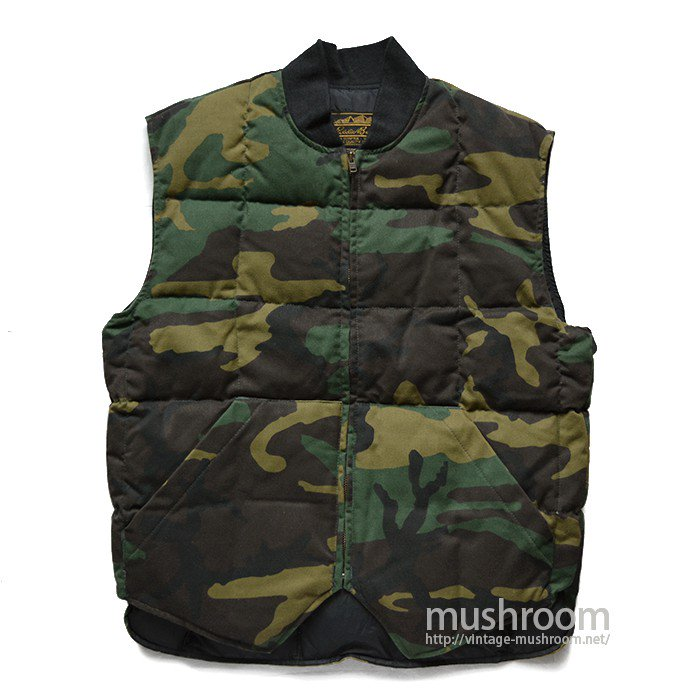 EDDIER BAUER WOODLAND CAMO DOWN VEST( MAYBE..DEADSTOCK )