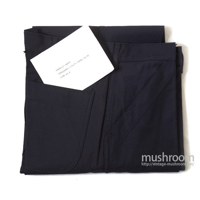 U.S.NAVY UTILITY DARK BLUE COTTON TROUSERS( 34R/DEADSTOCK )