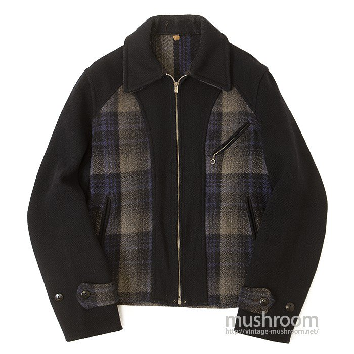 MONTGOMERY WARD PLAID WOOL SPORTS JACKET