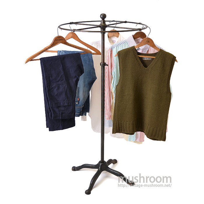 JAPANNED ROUND CLOTHING RACK