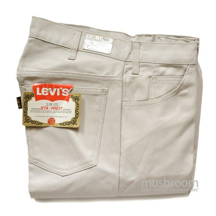 LEVI'S 518 BIGE  STA-PREST SLIM FITS PANTS( W30/L30/DEADSTOCK )