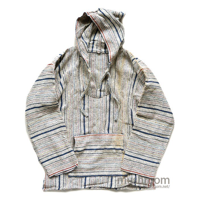 INDIA COTTON STRIPE PULLOVER HOODY( DEADSTOCK )