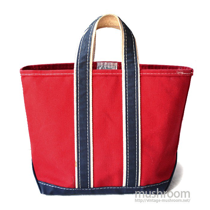L.L.BEAN DELUXE TOTE BAG( RED/NAVY/MINT )