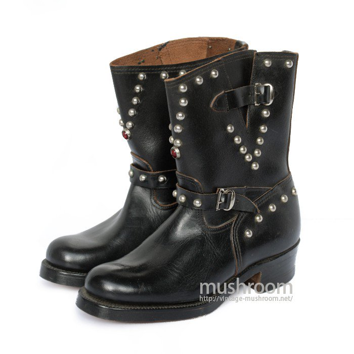 OLD STUDDED ENGINEER BOOTS( DEADSTOCK )