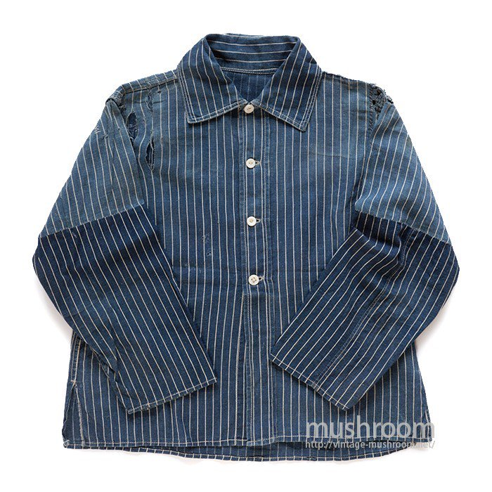 INDIGO STRIPE WORK SHIRT( STIFEL FABRIC )