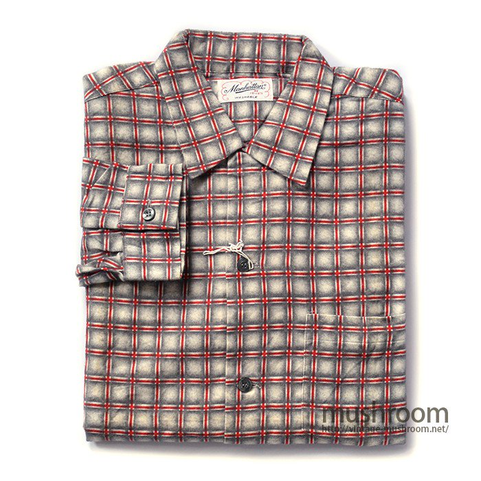 MANHATTAN PRINT COTTON FLANNEL SHIRT( DEADSTOCK )