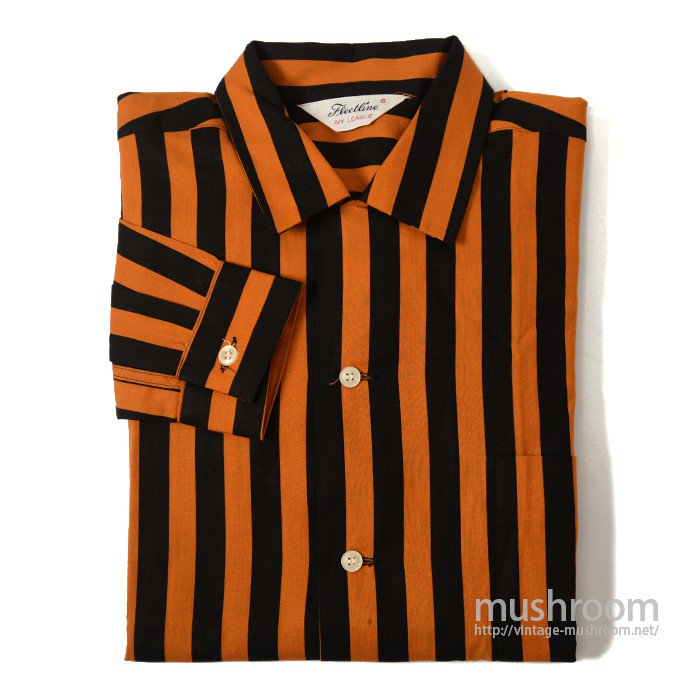 FLEETLINE STRIPE COTTON BOX SHIRT( S/DEADSTOCK )