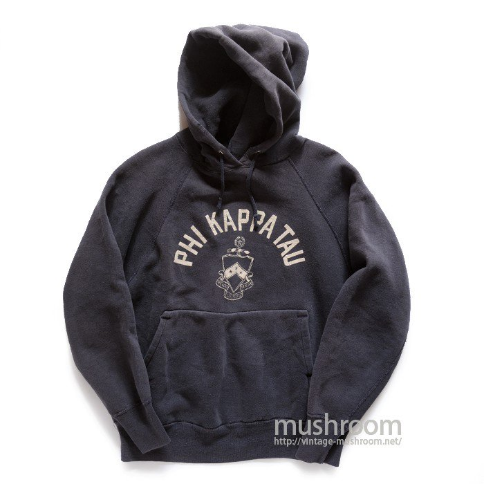 OLD COLLEGE FLOCK PRINT SWEAT HOODY