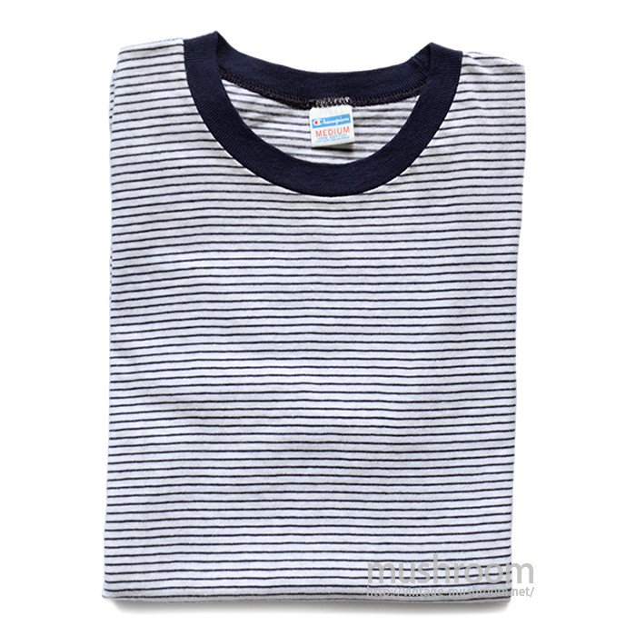CHAMPION STRIPE RINGER T-SHIRT( M/MINT )