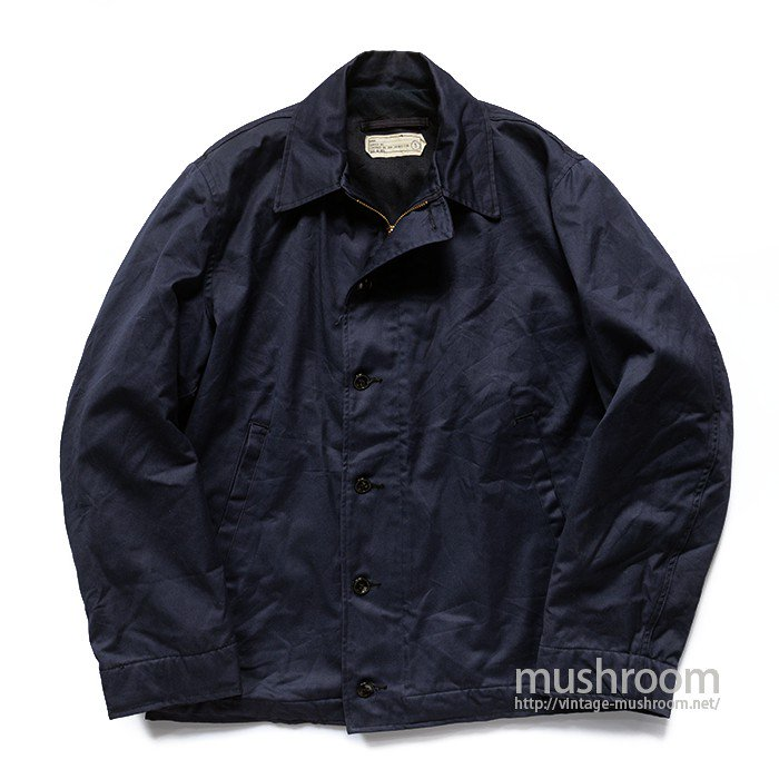 U.S.NAVY NAVY-BLUE UTILITY JACKET( MINT )