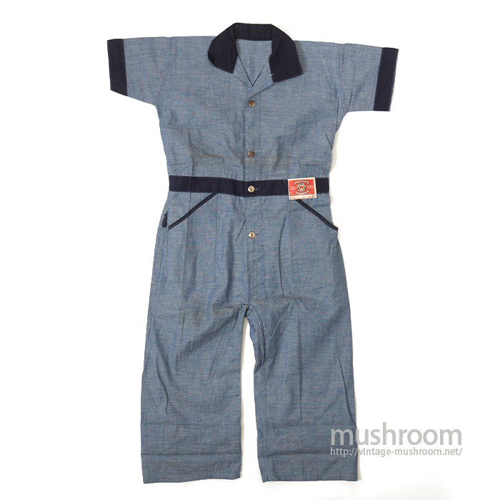 STAR UNION OVERALL CHAMBRAY PLAYSUIT( DEADSTOCK )
