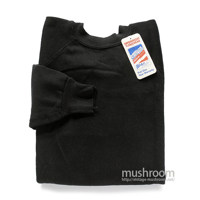 AMERICAN FLEECE WEAR BLACK SWEAT SHIRT( DEADSTOCK )
