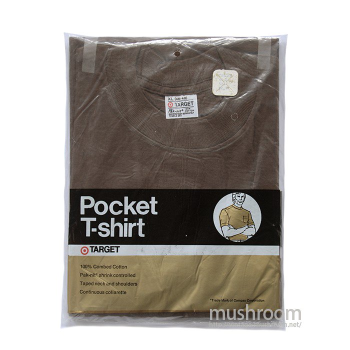TARGET POCKET T-SHIRT( XL/BROWN/DEADSTOCK )