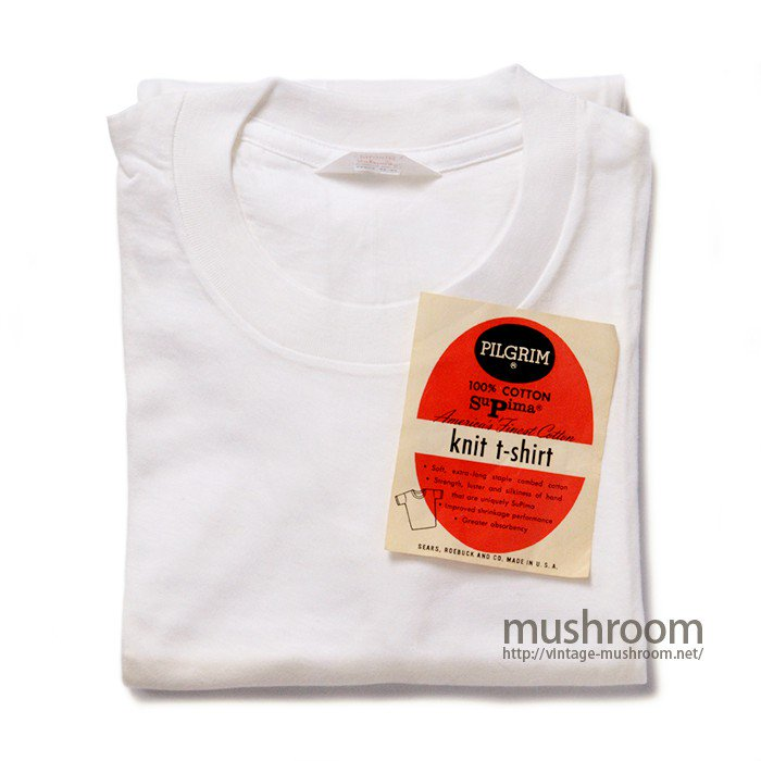 PILGRIM WHITE COTTON T-SHIRT( L/DEADSTOCK )