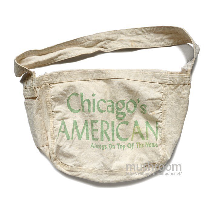 CHICAGO'S AMERICAN NEWSPAPER CANVAS BAG
